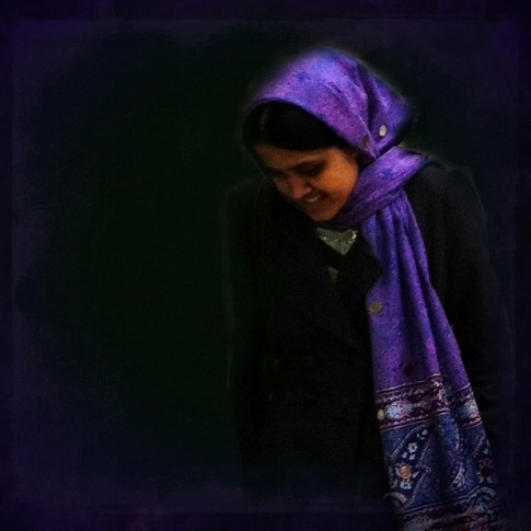 Girl in the Blue Scarf