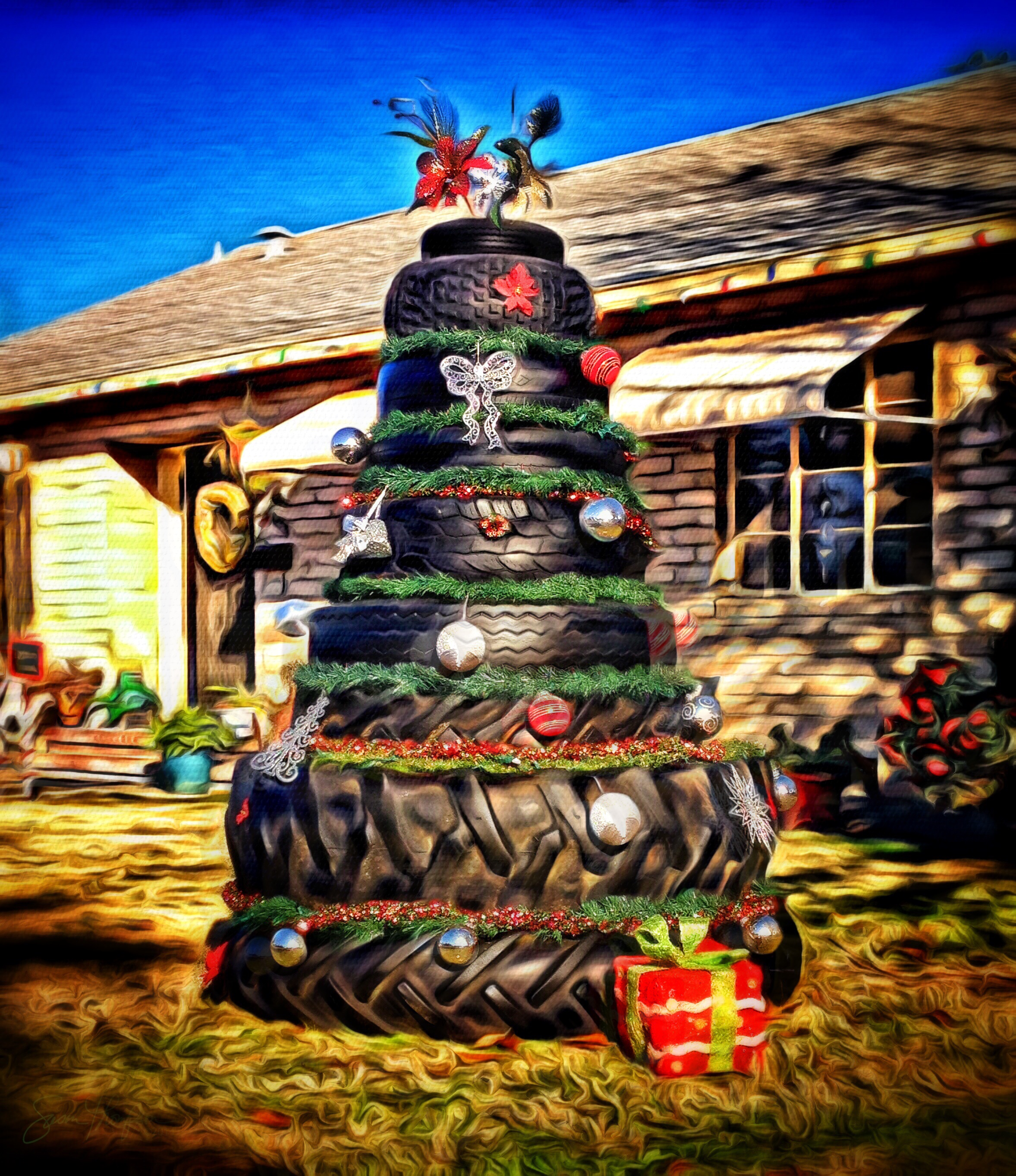 {daily pic} Susan Thompson ~ Christmas A-Tire