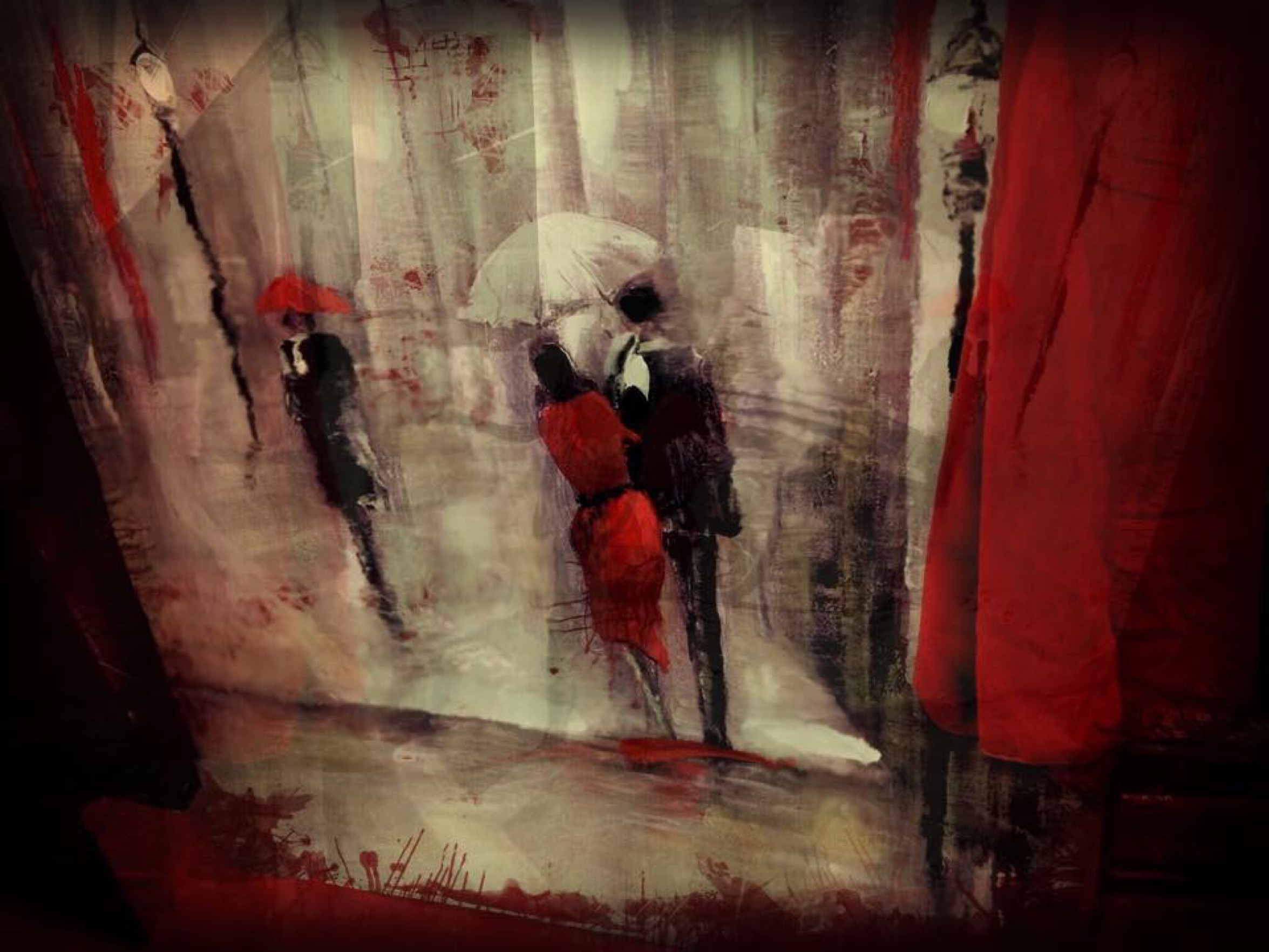{daily pic} Lisa Peters ~ Every time I wear that dress, I wind up in another painting