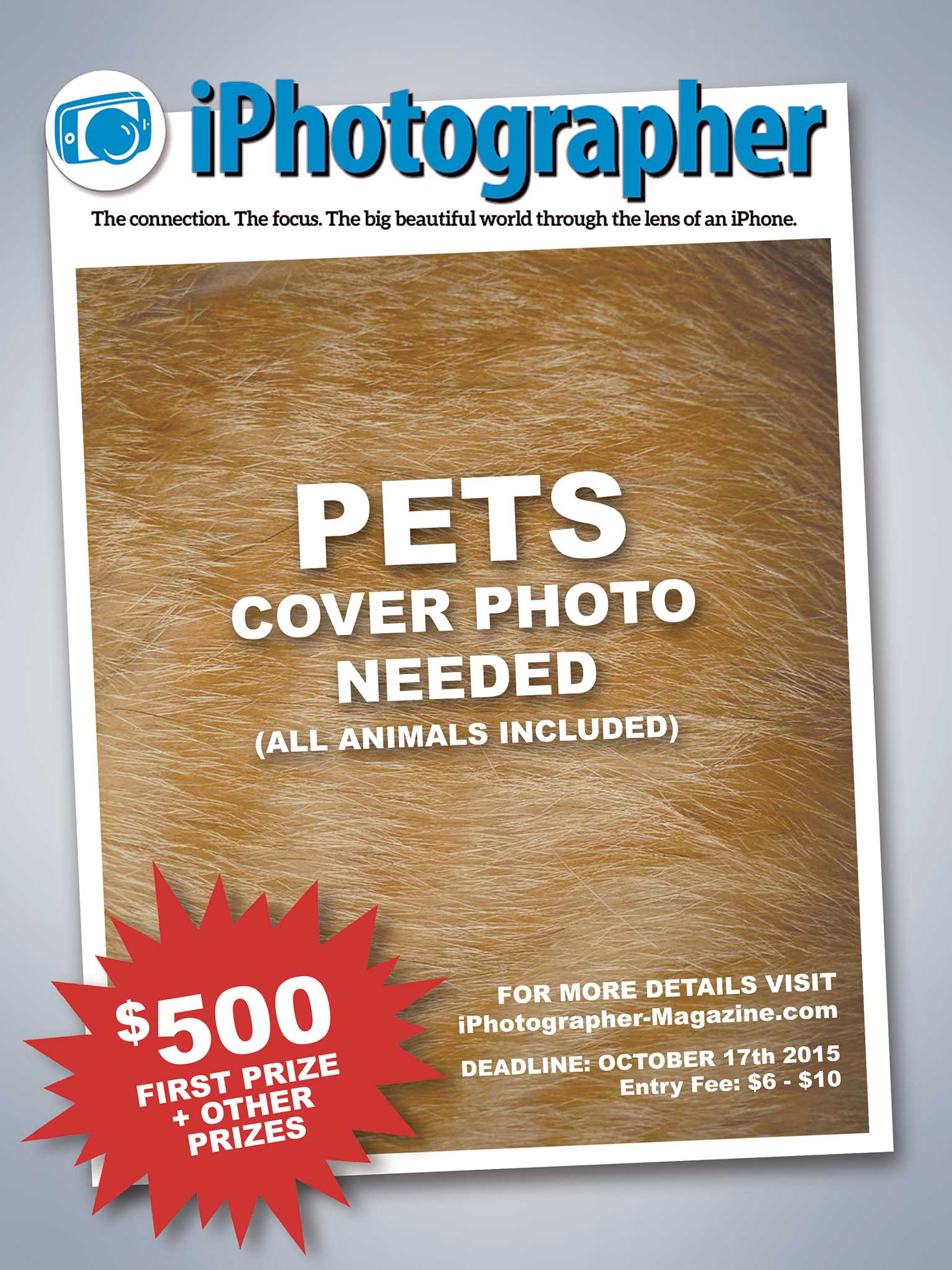 Ten Days Left To Enter iPM Cover Contest: PETS (& Animals)!