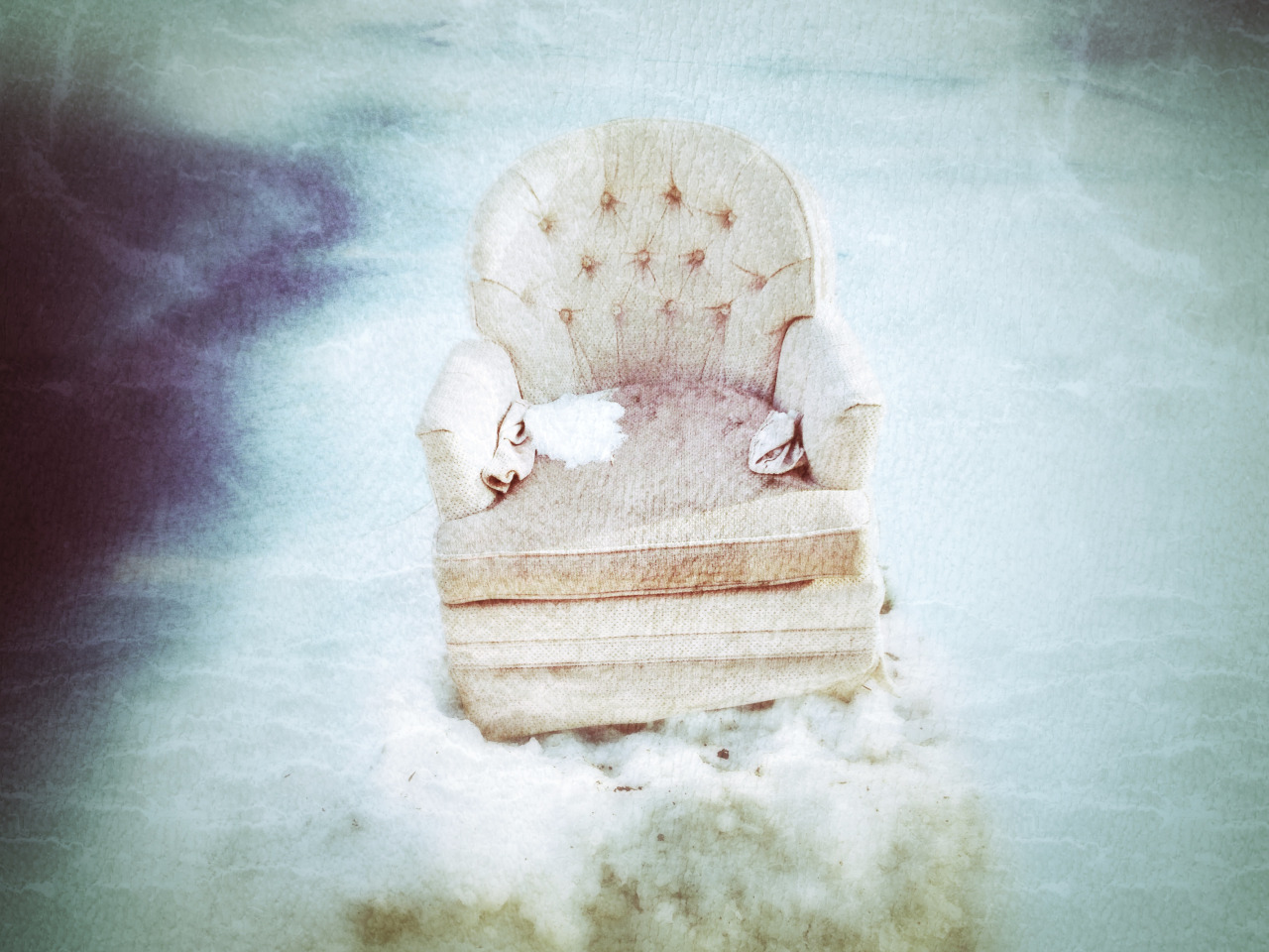 {tumblr}  Aldo Pacheco ~ The pinky throne of the winter fairy or memories of the recycling day