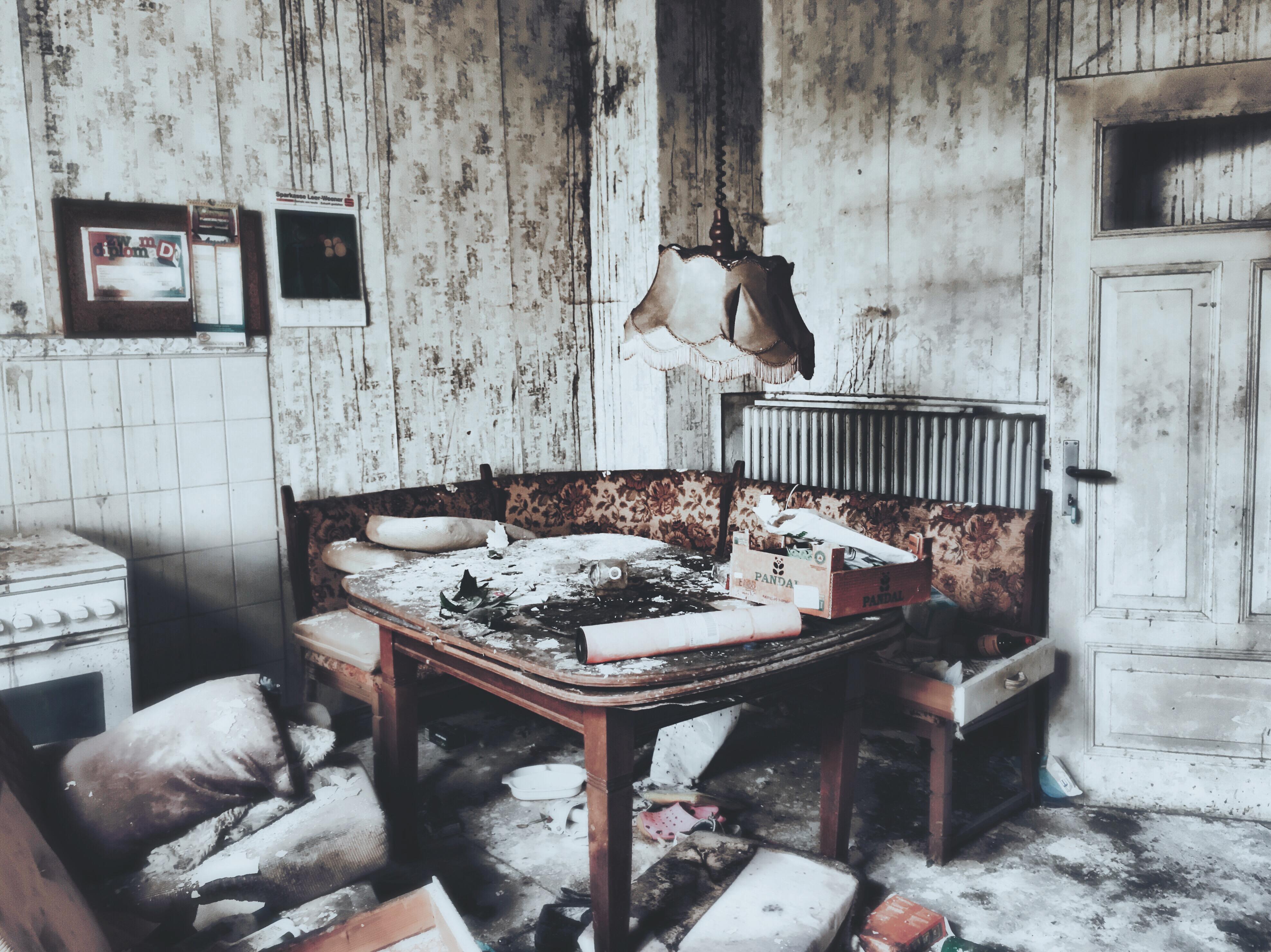 Hans Borghorst ~ Kitchen at deserted house