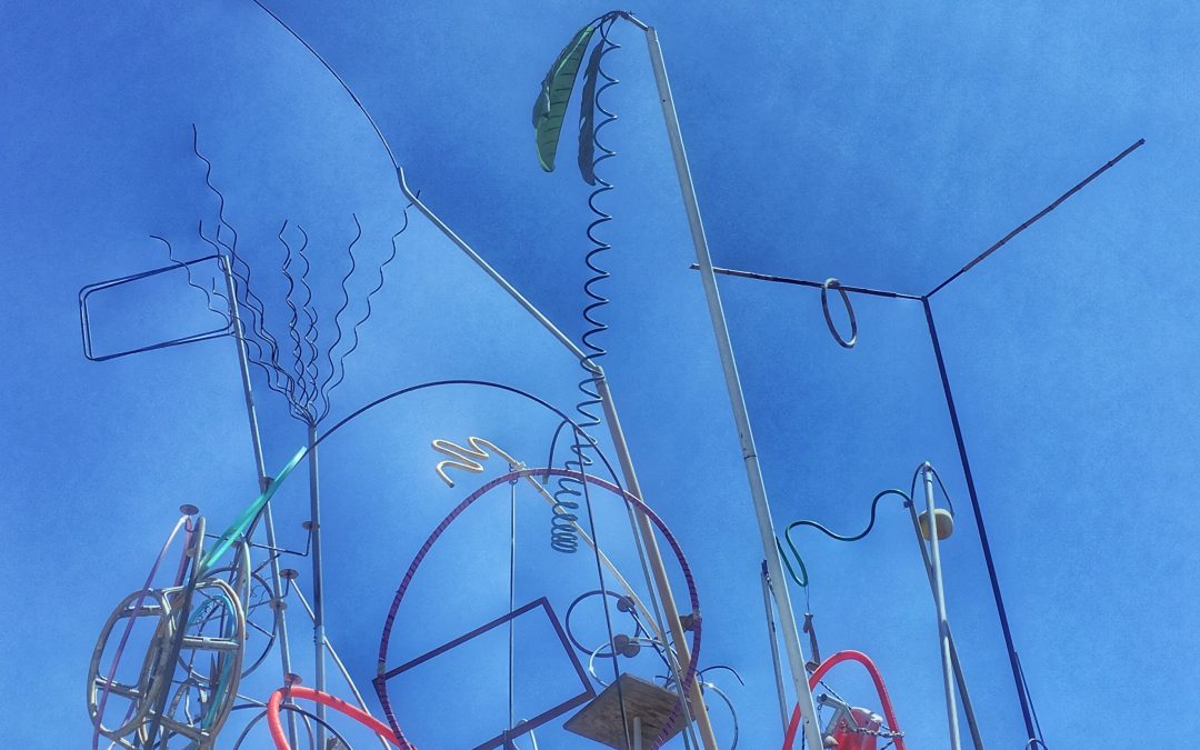 Knox Bronson ~ Sky Sculpture at Urban Ore, Berkeley